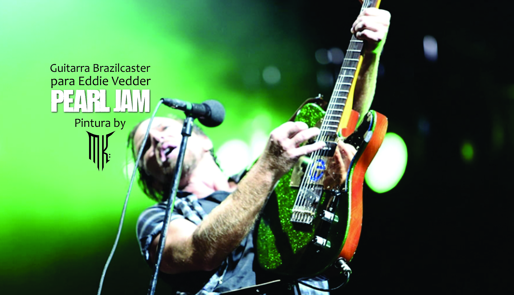 Guitarra personalizada Eddie Vedder - Perl Jam, by Music Kolor