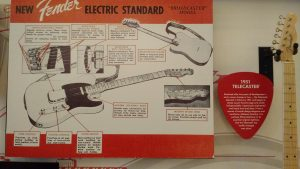 Poster Telecaster- Music Kolor visita fábrica da Fender em Corona